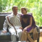 Dana Rae Paré with Tim Miller in Mysore India