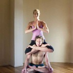 Dana Rae Paré and Trevor Monk in Partner Padmasana