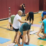 Trevor Monk with Pattabhi Jois in Carlsbad