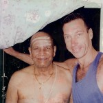 Trevor Monk with Pattabhi Jois in Mysore India