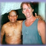 Troy Taylor with Pattabhi Jois in Mysore India