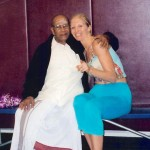 Dana Rae Paré with Pattabhi Jois in Carlsbad