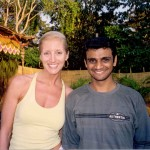 Dana Rae Paré with R Sharath in Goa