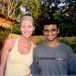 Dana Rae Paré with R Sharath in Goa