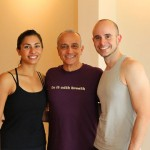 Infinite Yoga Teachers Deanna Blankenbiller and Oreste Prada with Lino Miele