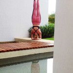 Infinite Yoga Teacher Dana Rae Paré in Sirsasana - Los Cabos
