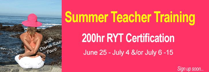 Infinite Yoga's 200hr Nationally Certified Teacher Training* with Dana Rae Paré